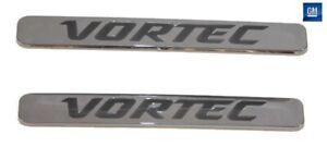 2011-2014 Silverado 2500HD Chrome Vortec Hood Side Emblems  NEW GM PAIR 695