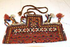 Terrific antique little Koran bag, Afshari tribe, around 1910, rare!