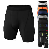 Men's Compression Shorts Cool Dry Workout Running Basketball Gym Active Bottoms