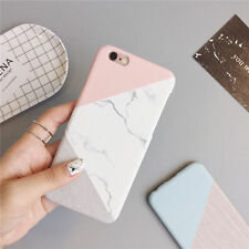 for iPhone 6 7 7 Plus 5s Granito Mármol Contraste Color PC Funda Rígida 2017