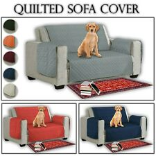 Quilted Sofa Cover Furniture Protector Settee Throws 1/2/3 Seater For Pet DOG
