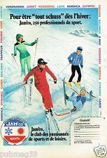 Publicité advertising 1975 Les Magasins Sports ski Jam'Co