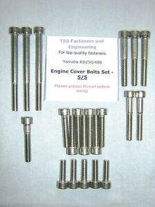 Yamaha RD250 / RD400 - Engine Covers Bolts Set - Stainless Steel - UK SELLER