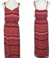 NWT White House Black Market Long Maxi Dress Tie Dye Pink Black Size Large