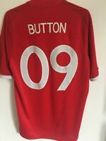 JENSON BUTTON ENGLAND ADULT FOOTBALL SOCCER AWAY SHIRT 2010/11 SIZE 40 FORMULA 1