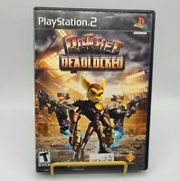 PS2 Playstation 2 Ratchet Deadlocked Video Game Tested Working Complete