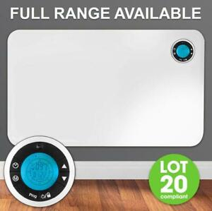 ELECTRIC PANEL HEATER RADIATOR THERMOSTAT WITH TIMER WALL MOUNTED PORTABLE SLIM