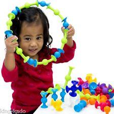 FIGURINE  FORMES ,JEU DE CONSTRUCTION A VENTOUSE ( colorées et flexibles ).