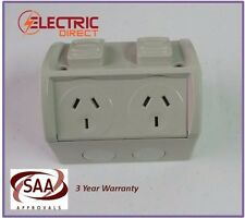 Weatherproof Double GPO Power Point Outlet 10Amp