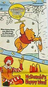 McDonald's 2002 Walt Disney Winnie The Pooh Empty Kids Happy Meal Bag