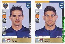 80-81 FERNANDO GAGO CRISTIAN ERBES ARGENTINA BOCA JUNIORS FIFA 365 PANINI