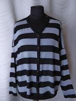 🔻Masai  Cardigan  Oversized Striped  Sleeves  Black  Blue  Size S