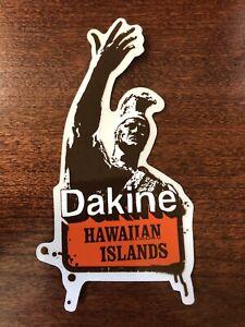 DAKINE Decal Sticker Hawaiian Islands Surfboard Snowboard Warrior Clear Back