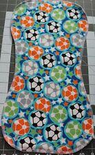 Lot of 1 Flannel Burp Cloths Large Soft Double Layer Handmade Soccer Balls Sport