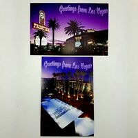 New Frontier Hotel Casino Las Vegas NV Postcards Unused Lot of 2 Closed In 2007