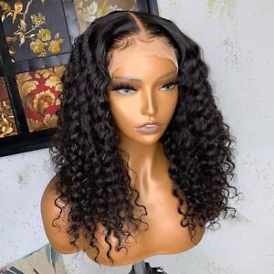8A 250% Density Unprocessed Brazillian 13x4 Lace Front Curly Human Hair Wig