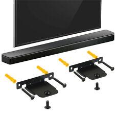 Pair Black Soundbar Wall Brackets for LG SH4 with screws