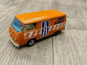 VOITURE MAJORETTE FOURGON VW N°224 SERVICE AUTOROUTE ECH 1:60 MADE IN FRANCE