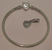 Beautiful NEW Sterling .925 Pandora A Mother's Love Bangle Set Size 21 USB796121