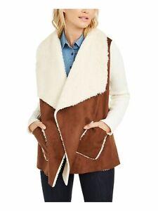 TOMMY HILFIGER Womens Beige Wrap Coat Size: M