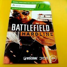 BATTLEFIELD HARDLINE - 3 GOLD BATTLE PACKS (XBOX 360) DLC ONLY #47