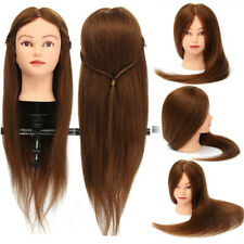 26'' 100% Real Human Hair Mannequin Head Hairdressing Training Model with Clamp