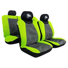 New 9pcs Embroidery Mesh Car Seat Covers Green Black For Nissan Honda Mazda
