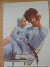 VINTAGE LAVENDA KNITTING PATTERN BABYS PRAM SUIT 22 in LADIES DRESS 34 - 38 in