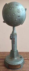 1960's Duro Mold Destination Moon Mechanical Rocket Savings Bank Somerville Mass
