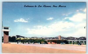 "LOS ALAMOS, NEW MEXICO ~ Entrance ""City of Scientists"" Atomic Research Postcard"