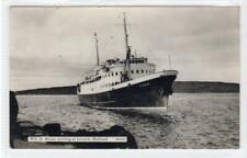 More details for mv st. ninian arriving at lerwick: shetland isles postcard (c37545)