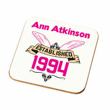 Personalised Girls Established Birthday Coaster Gift Any Year Daughters Present