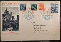 1940 Pardubice Bohemia Moravia Germany Cover Six Centenary Philatelic Fair
