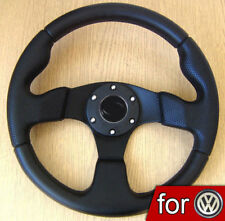 Volante Deportivo Negro 320mm para VW GOLF 1 2 3 4 GTI Polo T4