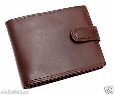 TOPSUM LONDON MENS SOFT REAL LEATHER WALLET CREDIT CARD, COIN POUCH BROWN 4014
