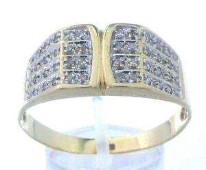 Goldring Ring 585 GOLD 14 Karat Gelbgold Brillanten Diamanten diamond Herrenring
