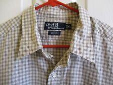 Ralph Lauren Size  XL Gardner Mens Shirt Check Long Sleeve White Brown POLO