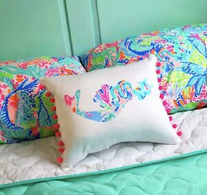 New Mermaid pillow made with LILLY PULITZER PB Mermaid Cove fabric