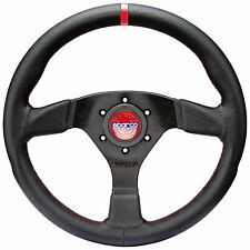 2019 SPARCO R383 CHAMPION FLAT STEERING WHEEL - Red Stitiching