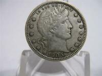 VERY OLD VERY RARE 1905 o BARBER QUARTER A.UNC.++ CONDITION nfm949
