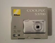 Nikon Coolpix S3700 20.1 MP Camera - SILVER -  Lightly Used in Original box