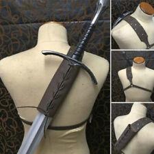 More details for uk medieval men sword shoulder back sheath scabbard holder warrior one shoulder
