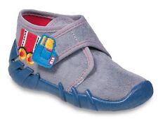 Befado Jungen Canvas Schuhe Kindergarten Hausschuhe Sneaker Neu Größe 6.5uk NEU