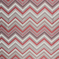 Chevron Zig Zag Red Geometric Modern Embroidered Fabric Drapery Upholstery IL9