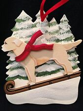 Yellow Lab/Labrador Retriever Dog Wooden Ornament Made in USA New