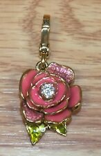 Genuine Juicy Couture Multi Tone Small Pink Rose Necklace Charm - Pendant