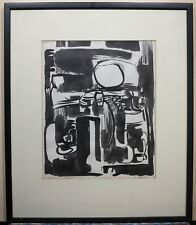 Mary Demeter 1956 abstract expressionist painting mid-century modern