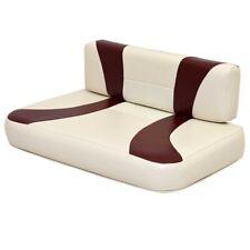 G3 Boat Seat Cushions | Cream Maroon (Set of 2)