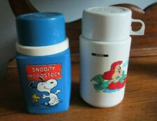Little Mermaid & Snoopy Vintage Thermos from Lunchboxes