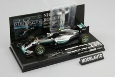Minichamps 1:43 MERCEDES AMG W07 HYBRID ROSBERG WORLD CHAMPION 2016  W/ FIGURINE